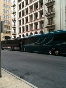 Yanni Tour buses