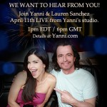 Yanni ao vivo em 11 abril