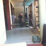 unloading Yanni trucks in WPB2